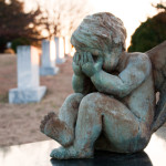 Baby Angel Crying in Graveyard
