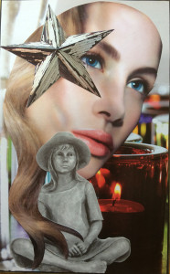 girl in hat candle star Child Soul Card