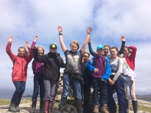 pre teens at the top of iona Dun I