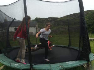pre teens on the trampoline erraid