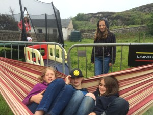 thresa, james & bella in hammock